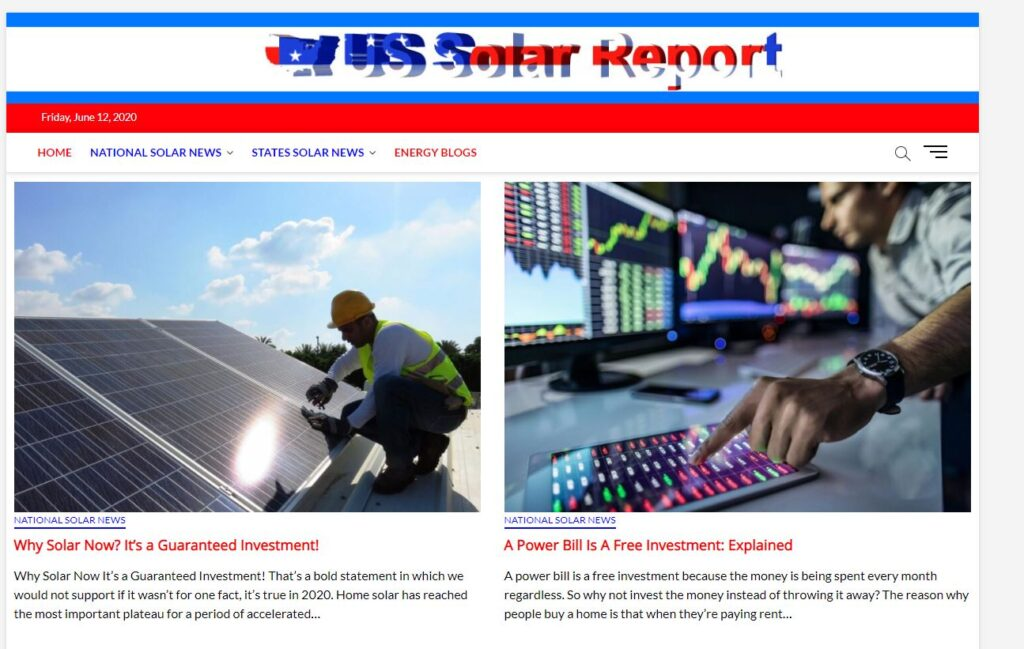 Contact Us, US Solar report,